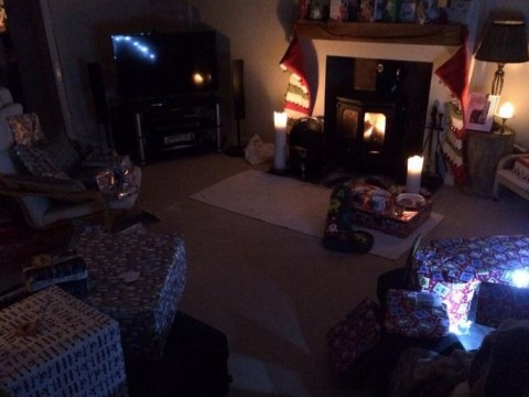 Storm-battered homeowners making most of Christmas under candlelight
