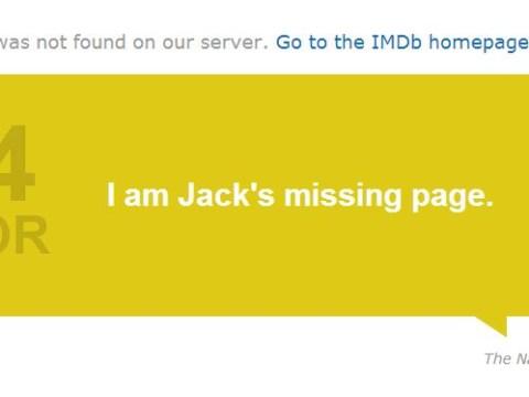 IMDb now using film quotes as 404 errors