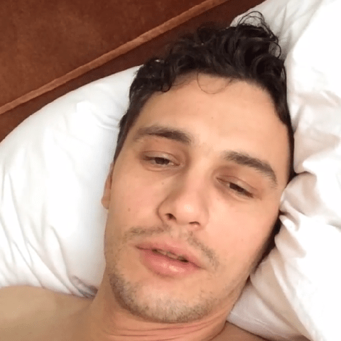 I got drugged last night – James Franco posts bizarre hangover video