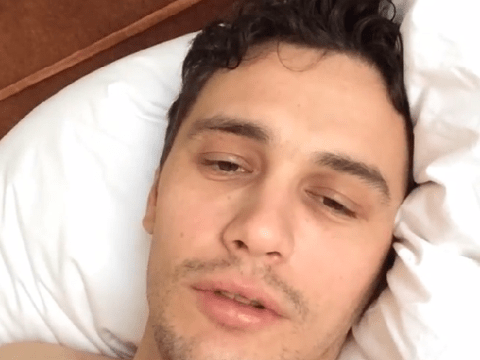 I got drugged last night – James Franco posts bizarre hangover video