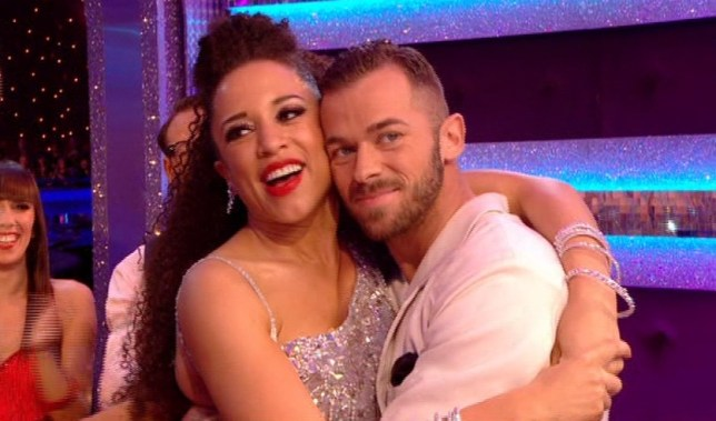 Natalie and Artem celebrate their first 40 (Picture: BBC)