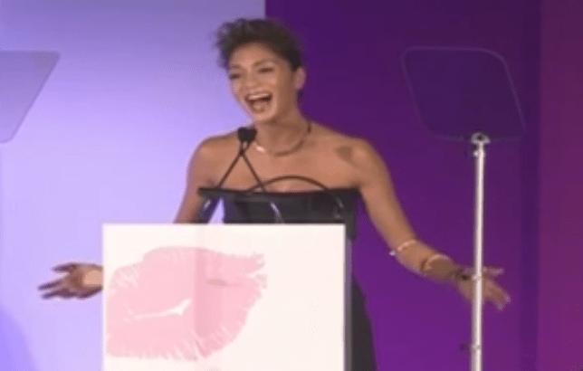 Nicole Scherzinger pays tribute to Nelson Mandela at Cosmo Awards