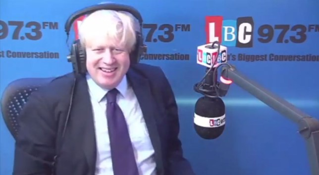 Boris Johnson described Clegg as a 'prophylactic protection device', or in other words, a condom (Picture: LBC)