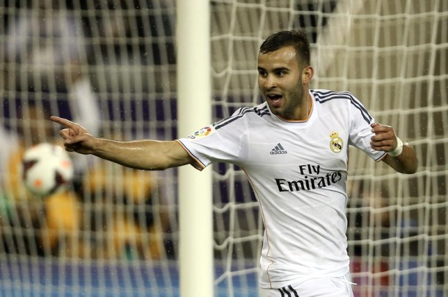 Real Madrid's Jese celebrates after scoring against Paris St Germain during their friendly soccer match at Khalifa stadium in Doha January 2, 2014. REUTERS/Fadi Al-Assaad (QATAR - Tags: SPORT SOCCER) Fadi Al-Assaad/Reuters