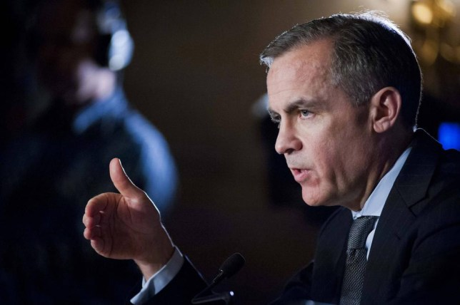 Warning: The Governor of Britain's Bank of England, Mark Carney (Picture: Reuters)