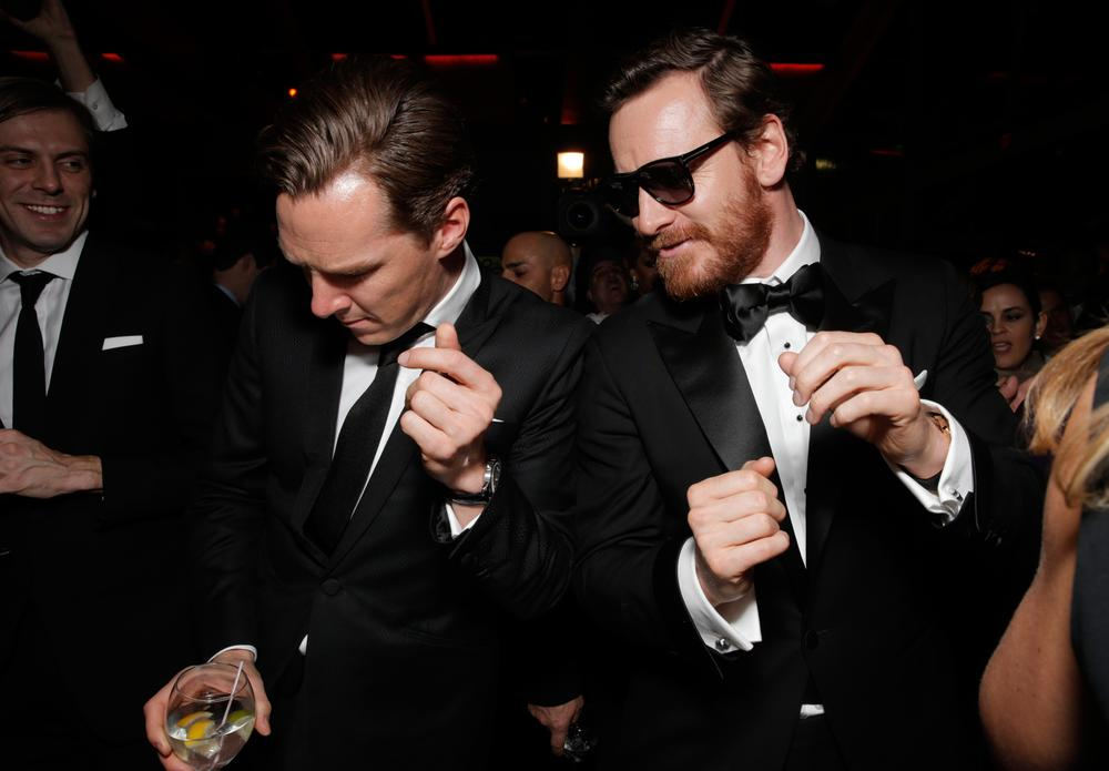 Benedict Cumberbatch and Michael Fassbender melted the entire room with their hotness (Picture: Invision for FOX Broadcasting Company/AP Images)