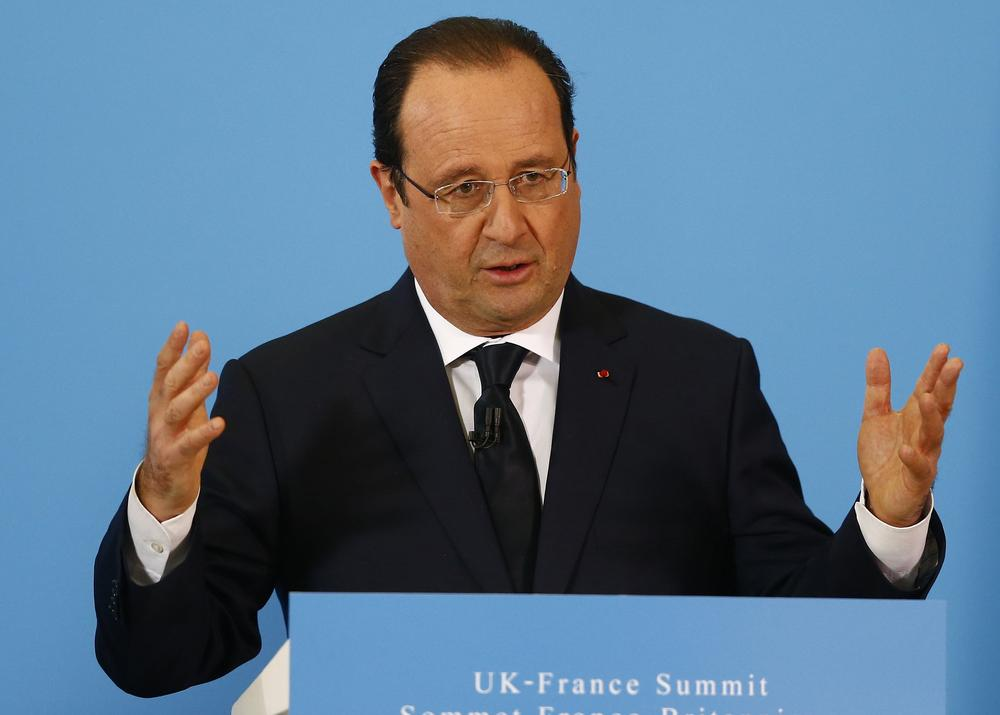 Francois Hollande refuses to answer question about 'affair' on UK visit