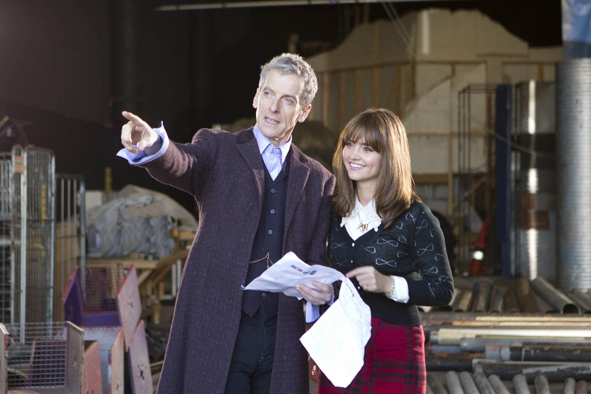 Doctor Who - Peter Capaldi and Jenna Coleman