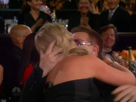 Bono likes kisses from Amy Poehler but not from P Diddy