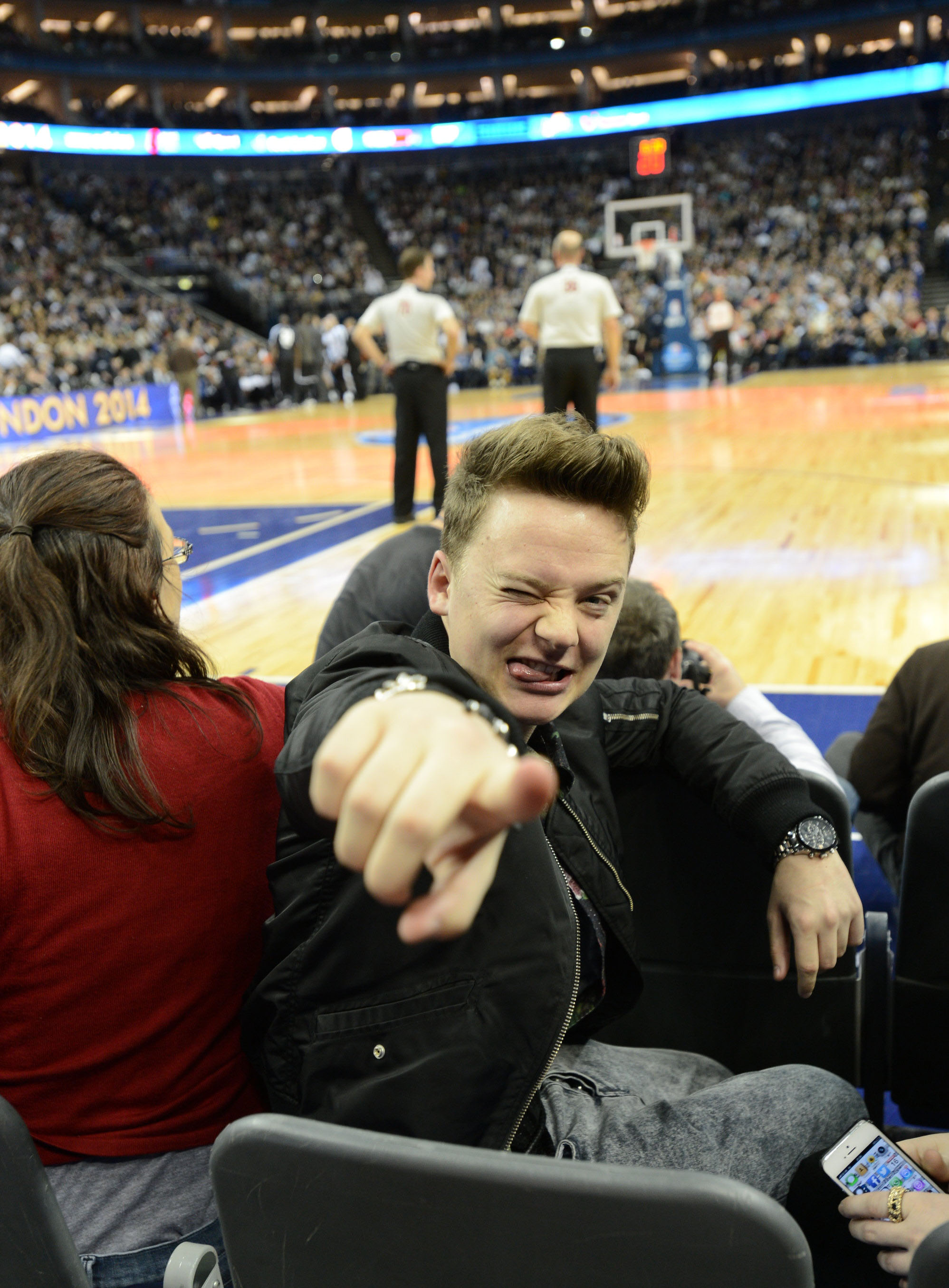 Conor Maynard has his sights set on a collaborative rematch with Pharrell Williams (Picture: Jennifer Pottheiser/NBAE via Getty Images)