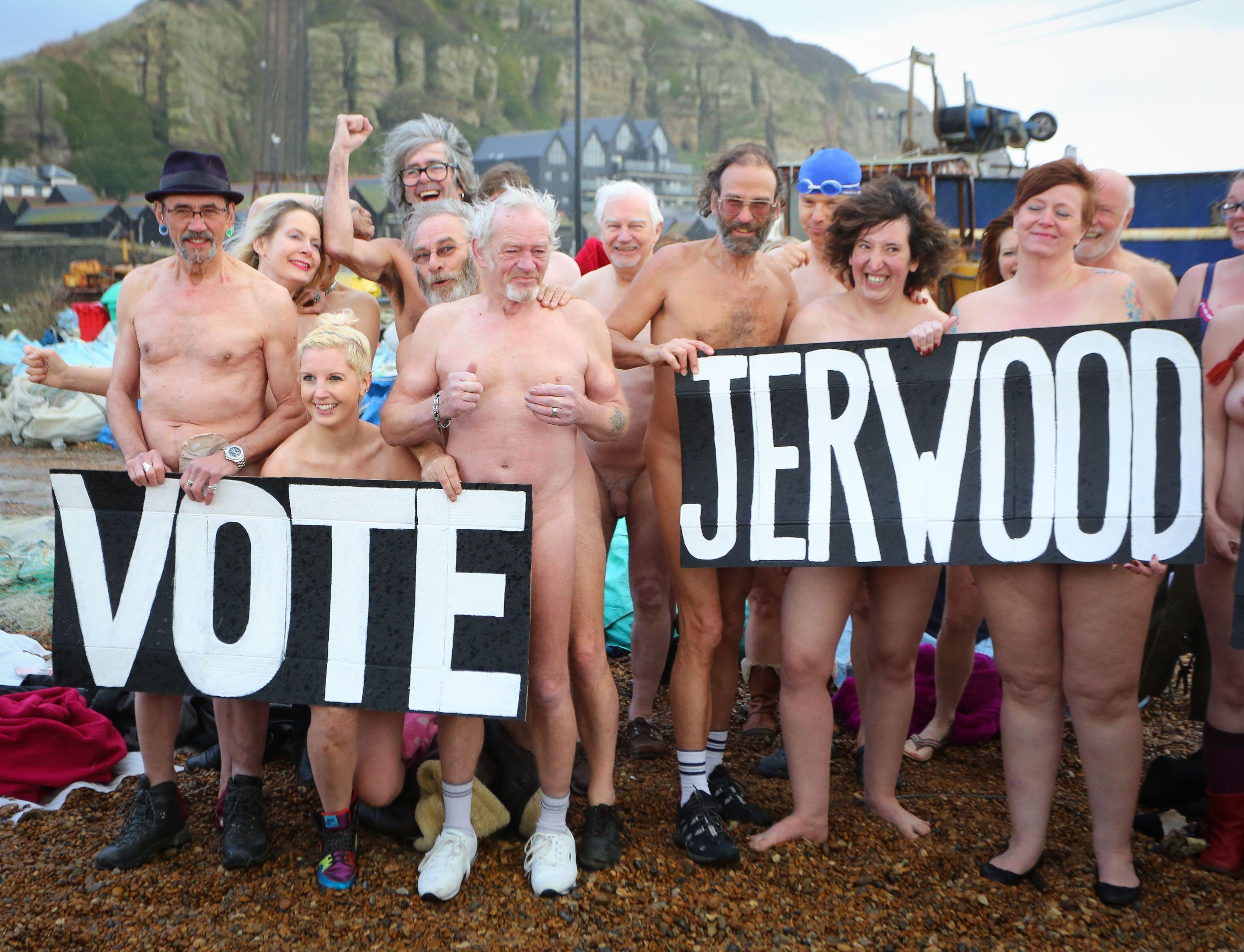 Gallery: Flash mob strip for beach stunt