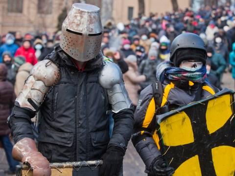 Gallery: Vitali Klitschko joins Kiev protests in the Ukraine