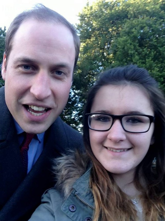 Prince William selfie: the Prince and Madison Lambe pose (Picture: SWNS)