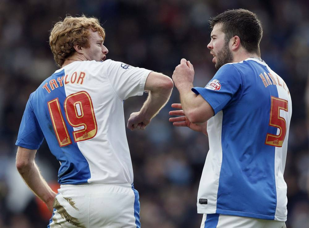 Blackburn players involved in first-half bust-up after conceding to Manchester City