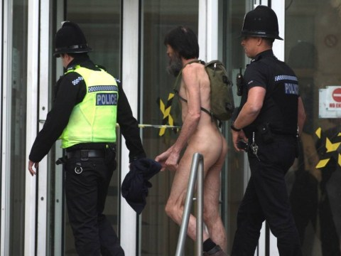 Naked Rambler appears nude in the dock… and is jailed for 16 months
