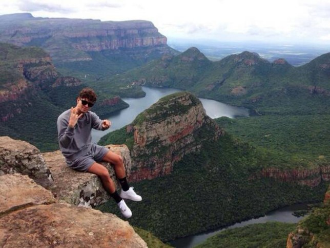 Joey Essex filming in South Africa