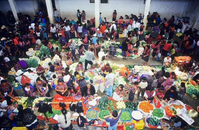 Chichicastenango in the Mayan highlands of Guatemala is home to a vibrant street market (Picture: Alamy)