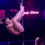 Lee Ryan working the pole - Celebrity Big Brother 2014
