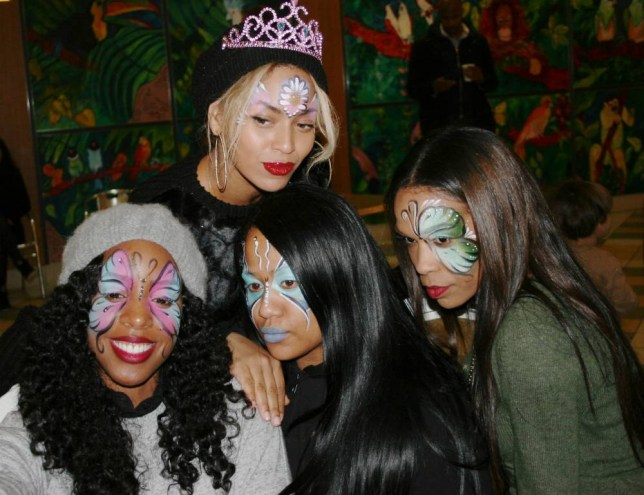 Beyonce and Jay-Z rented out a jungle for Blue Ivy's second birthday -- and here are the pictures from inside the wild bash. The couple closed down Jungle Island in Miami, Florida for their daughter's special day last week, spending some serious cash to hold a party at the wildlife park. Queen Bey has finally shared some photos from inside the soiree, which was attended by her Destiny's Child bandmates Kelly Rowland and Michelle Williams. Blue and all three women were photographed rocking some butterfly face paint for the event. From the pics, it looks like the two-year-old got a Minni Mouse convertible! Picture shows: Kelly Rowland, Angie Biyonce and Beyoncé