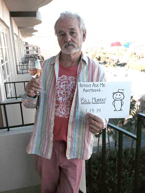 Bill Murray 'sings' Happy Birthday, talks pickles and weed during awesome Reddit AMA