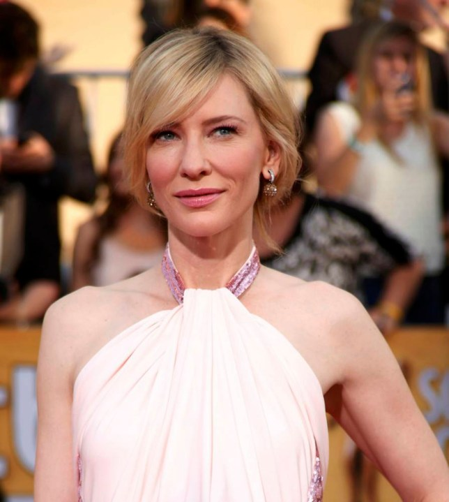 """Actress Cate Blanchett, nominee for Outstanding Performance by a Female Actor in a Leading Role for the movie """"Blue Jasmine"""" arrives at the 20th annual Screen Actors Guild Awards in Los Angeles, California January 18, 2014.  REUTERS/Lucy Nicholson  (UNITED STATES Tags: ENTERTAINMENT)(SAGAWARDS-ARRIVALS)"""