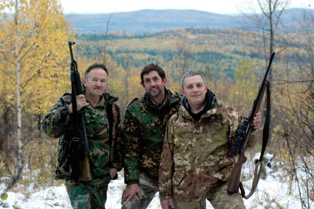 Russia on Four Wheels had Justin Rowlatt (centre) shooting in the Urals with Yuriy Zvekov (left) and Georgiy Goldyrev (Picture: BBC/Evgeniy Ryazanov)