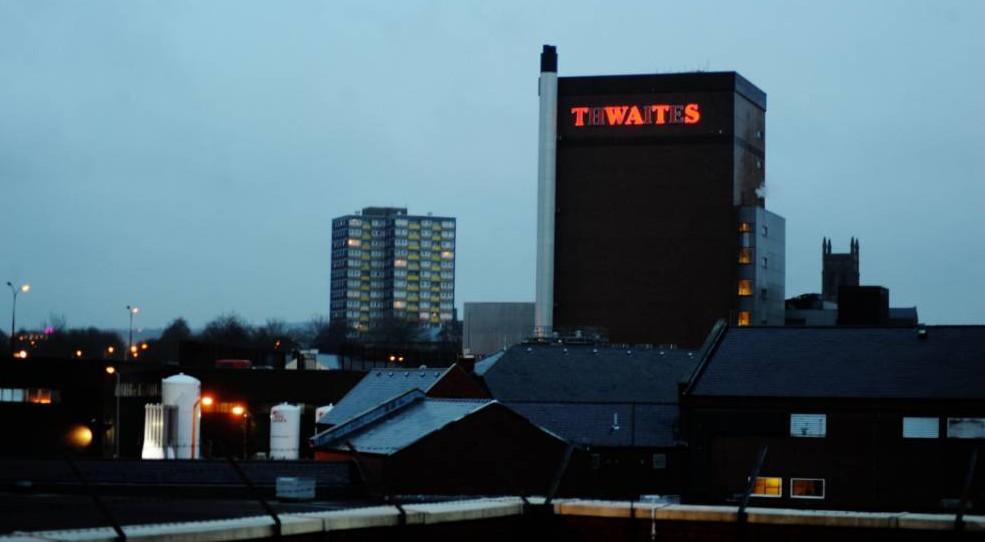 Thwaites brewery, sign