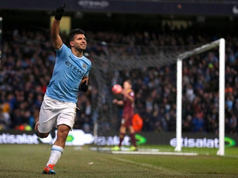 Gallery: Sergio Aguero hat trick fires Man City to 4-2 win against Watford
