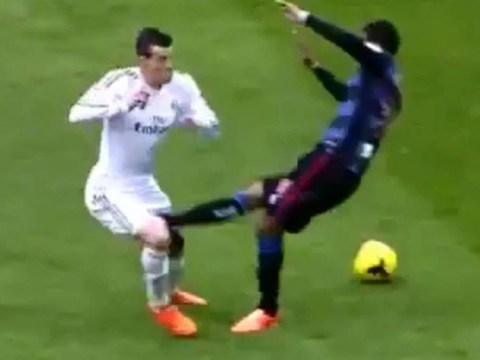 Gareth Bale gives his most ballsy display after a kick to the privates – video