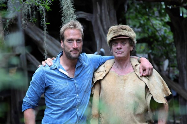 Ben Fogle seems coy about letting it all hang out in New Lives In The Wild (Picture: Renegade Pictures)