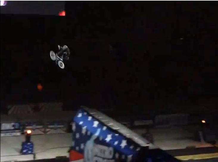 Video: Teenager pulls off world's first BMX double front flip