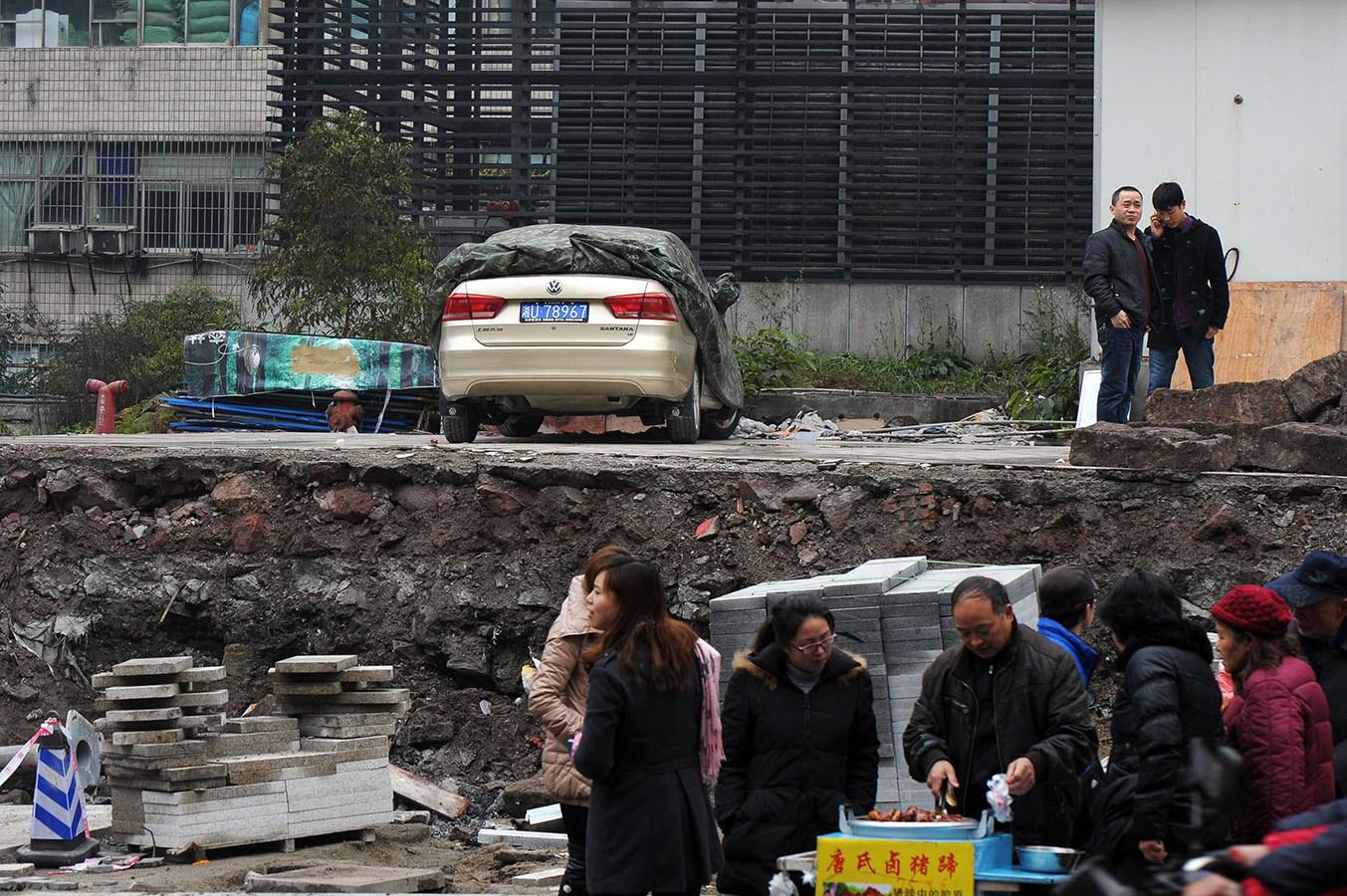 Trouble finding a space? Motorist finds vehicle stranded after car park demolition