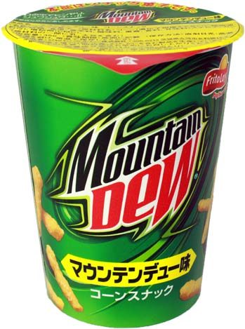 Here are those Mountain Dew-flavoured Cheetos you wanted