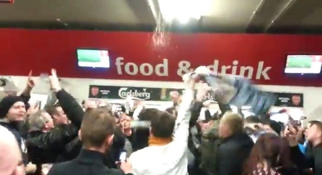 Coventry fans were determined to have a good time at Arsenal (Picture: Youtube)