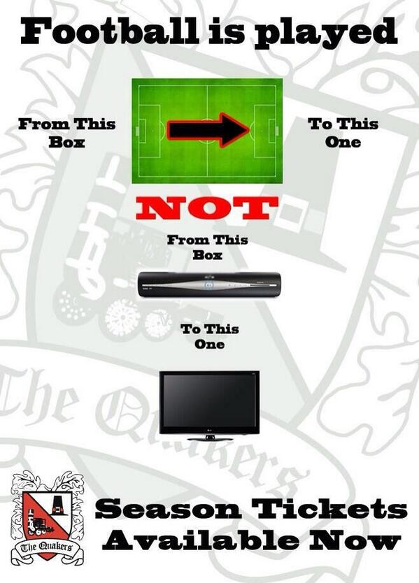 Darlington season ticket advert urges fans to dump Sky and return to the terraces