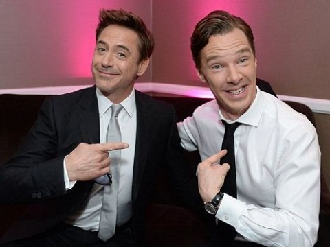 It's Benedict Cumberbatch and Robert Downey Jnr. in one photo, you guys