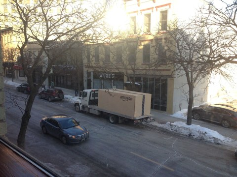 Is this the biggest Amazon package you've ever seen?