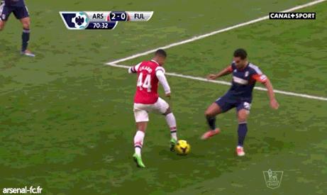 Tekkers! Watch Serge Gnabry's cheeky skill on Fulham defender Kieran Richardson