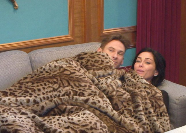 The happy couple: Lee and Jasmine have got even closer (Picture: Channel 5)