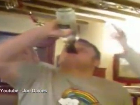 Alcohol charity condemns video of man drinking bottle of wine in four seconds
