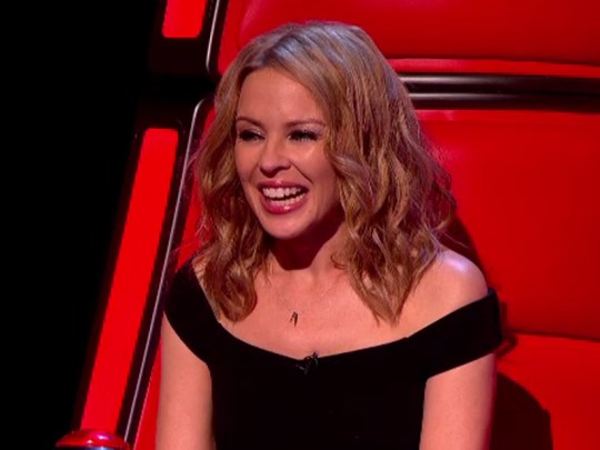 Kylie Minogue on The Voice 2014 (Picture: BBC)