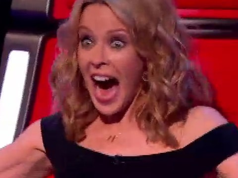 The Voice 2014: 10 photos of Kylie looking a tad over-excited in the first show