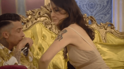 Celebrity Big Brother 2014: Liz Jones gives Dappy a sneak preview of her hideous tattoo
