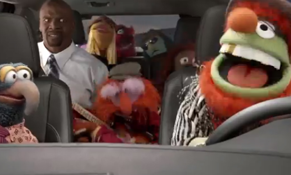 'There were singing vegetables…and chickens!' Actor Terry Crews rocks out with the Muppets in Superbowl ad