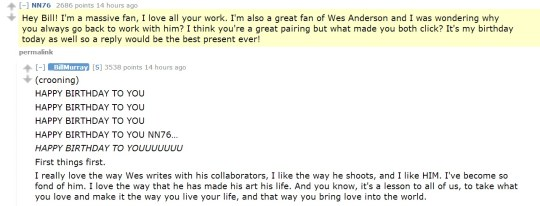 Bill Murray talks pickles and weed during awesome Reddit AMA