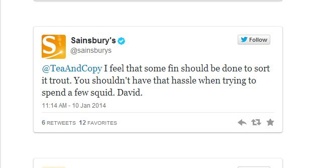 Off the scale: Sainsbury's in epic pun-filled Twitter exchange with fishy customer