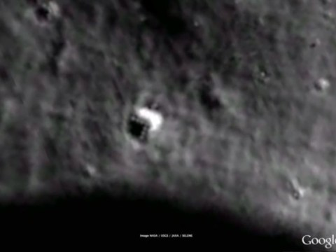 Mysterious triangular 'spaceship' spotted on the moon