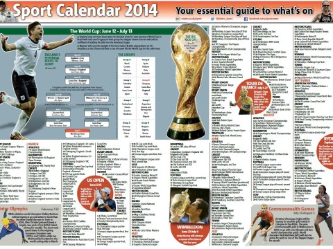 2014 sport calendar – Metro's definitive guide to the year ahead
