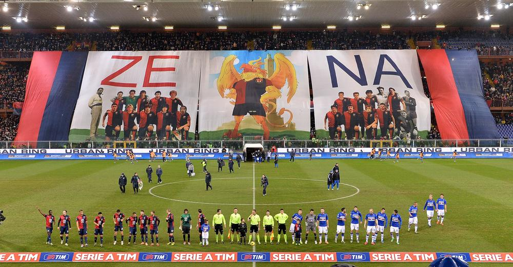Now, that's a welcome! Genoa fans look to inspire their heroes ahead of Sampdoria derby