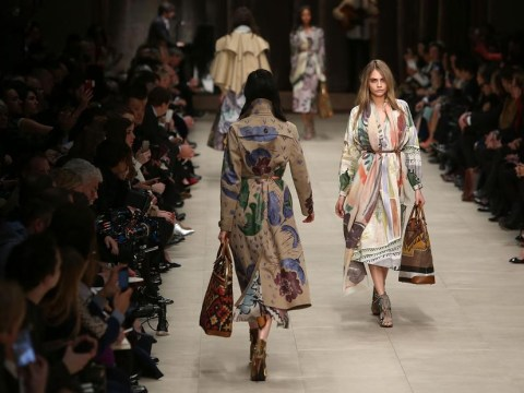 London Fashion Week AW14: Burberry paints the changing seasons in swirling watercolours